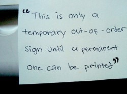 Photocopier our of order